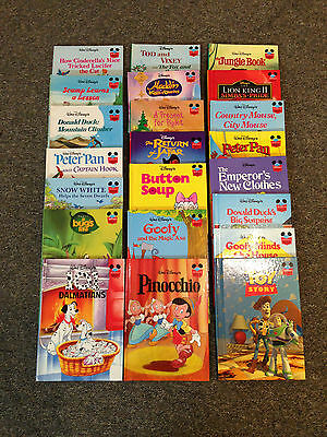Walt Disney's Grolier Book Club Collection - 22 hardback books with Mickey stand