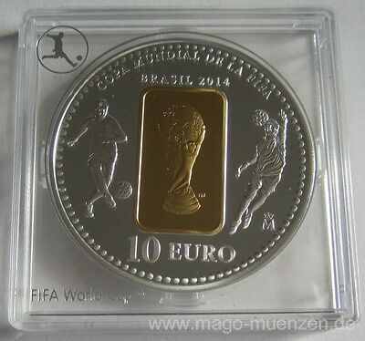 Spain 10 Euro 2014 Football World Cup in Brazil Silver