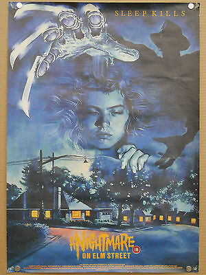 a nightmare on elm street ROLLED double crown one sheet quad cinema film poster