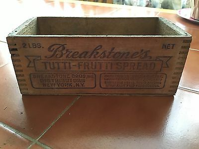 Breakstone's Tutti-Frutti Spread 2lb Antique Box With Cow
