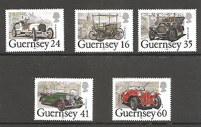 Guernsey / Classic Cars Sc # 531 - 535   Bargain High Value Complete Set
