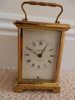 "French ""Bayard""  8 day quality carriage clock. Retailed by Duverdray & Bloquel."
