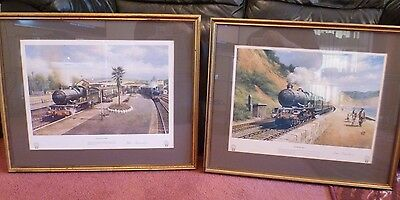 Pair Signed Don Breckon GWR Railway Framed Prints Great Western Christmas Gift