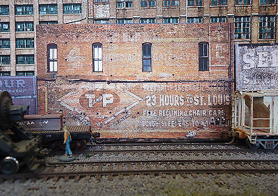 #338 O scale background building flat   T and P   FREE SHIPPING