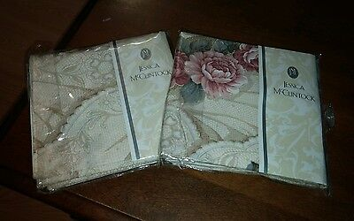 Jessica McClintock pair of King pillow shams Vintage Lace collection new in pkg
