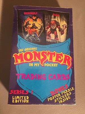 Monster In My Pocket - Trading Cards Box - Mint In Package Sealed - 48 Packs