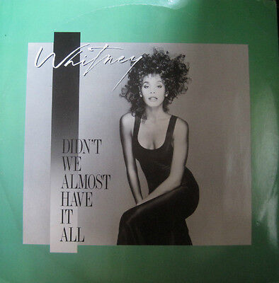 "Whitney Houston ‎– Didn't We Almost Have It All 12"" Vinyl Single  VG+/VG+"