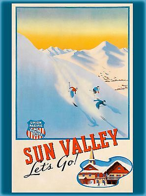 Sun Valley Idaho Year Round United States America Travel Advertisement Poster