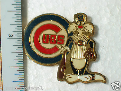 Chicago Cubs Pin , Sylvester , Looney Tunes , Baseball Pin , Vintage