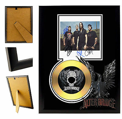 Alter Bridge  - A4 Signed Framed Gold Vinyl Collectors Cd Display Picture