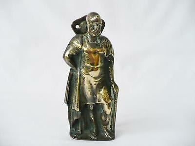 19th c Large Brass Roman Centurion  Door Knocker - Victorian Brass Door Knocker