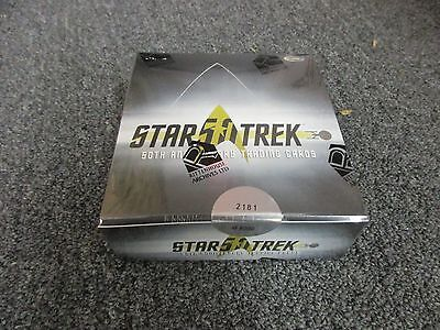 NEW 2017 - 50th Anniversary of Star Trek Factory Sealed Hobby BOX w/ Promo P1