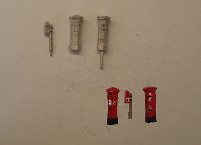 Pw114 Pack 3 Diecast Post Boxes     R13B