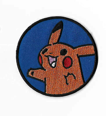 PIKACHU Patch Embroidered Iron / Sew on Badge Costume Pokemon Cosplay Applique