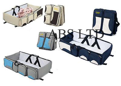 Baby Bed Nursery Diaper Changing Crib Nappy Bag Fold Infant Travel Cradle