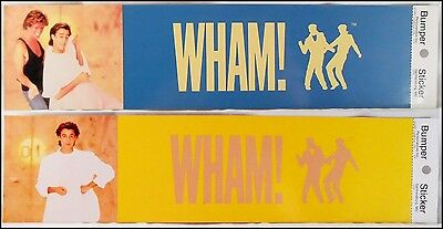 WHAM! Lot Of 2 80's Bumper Stickers George Michaels