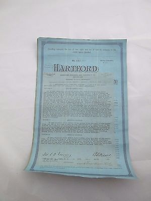 """Babe Ruth Hartford Insurance Collectible Replica Insurance Policy 11"""" x 17"""""""