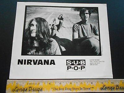 Nirvana Sub Pop Vintage Publicity B & W Photo by Charles Peterson
