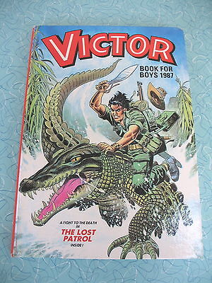 D C Thomson    The Victor Book For Boys   1987