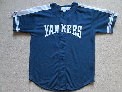 New York Yankees MLB Baseball Button Down Jersey Shirt - Jeter #2 - Mens Large