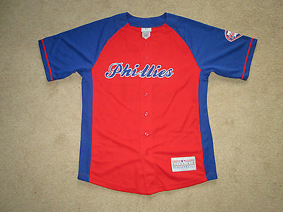 Philadelphia Phillies MLB Baseball Button Down Jersey Shirt Lee # 33 Youth Large