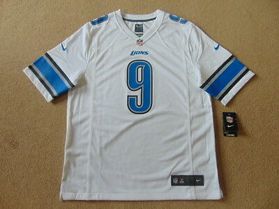 Detroit Lions Nike Game NFL American Football Jersey - Stafford #9 - Mens Large