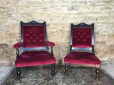 Edwardian His And Hers Chairs