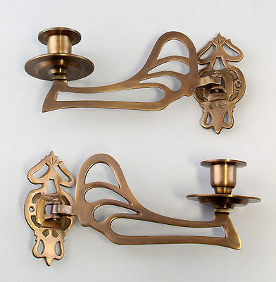 a1-77021 New Production, Pair Piano - Brass Chandelier Art Nouveau