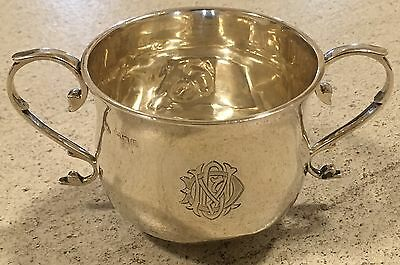 Hallmarked Sugar Bowl 1896 James Wakely London Silver With Monogram Over 100g