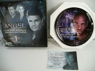 Angel Buffy the Vampire Slayer GUNN Collector Plate  limited ed.  256/2000