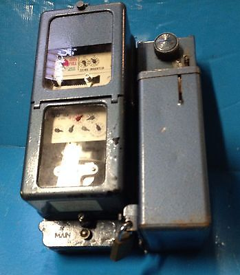 Vintage 50p Coin Operated Electric Meter