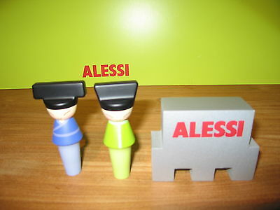 ALESSI *NEW* Set 2 bouchons H.9cm King & Queen Chin ASG83 Giovannoni