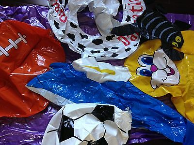 Lot of Assorted Inflatable PoolToys Grab Bag 3 Pounds FREE SHIPPING 8+ Items