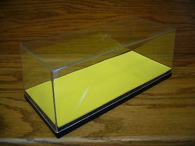 ERTL Clear Plastic Used Display Case 1/24 Diecast Cars & Collector Cars YELLOW