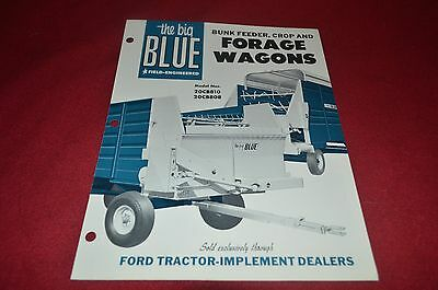 Ford Tractor Big Blue Forage Wagons Dealers Brochure YABE10