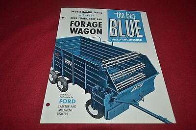 Ford Tractor Big Blue Forage Wagons Dealers Brochure YABE10 ver2