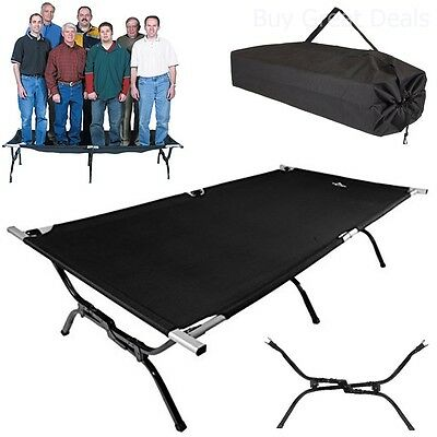 Cot Folding Bed Guest Camping Travel Hunting Hiking Person Outdoor Military XXL