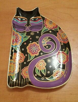 Franklin Mint Royal Doulton Laurel Burch cat plate Feline Fantasy