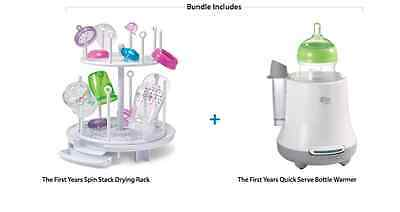 The First Years Bottle Warmer and with Bonus Drying Rack Bundle
