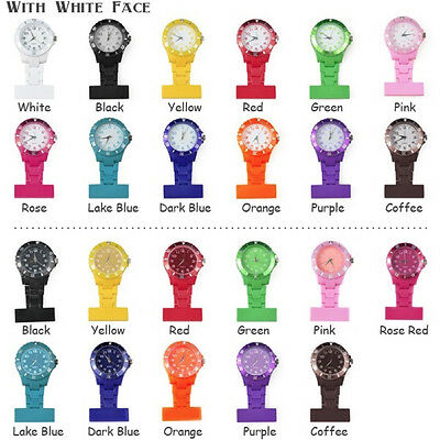 14 Color Style Nurse Watch With Pin Brooch Pendant Hanging Pocket Watch