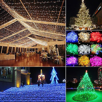 LED String Net Light Curtain Mesh fairy Party Wedding Christmas lights Outdoor