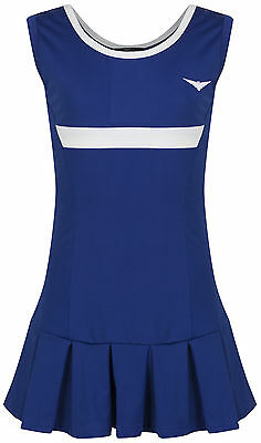 Girls Blue & white Tennis Dress with underpants Netball/Badminton 5-14 years old