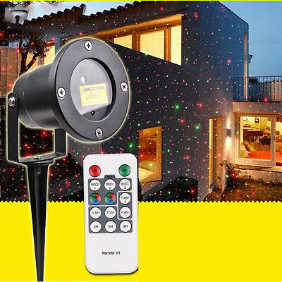 Glow Bright Christmas Laser Light Show DELUXE WITH Remote Control, Tripod