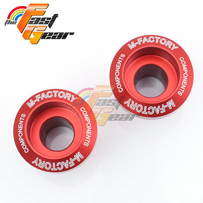 CNC Red Billet Motorcycle Swingarm Spools Fit Kawasaki Ninja 250R 2008-2012