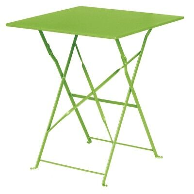 Bolero Lime Green Square Pavement Style Steel Table Restaurant Cafe Furniture