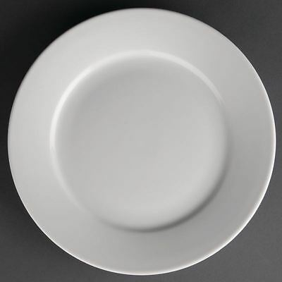 12X Athena Hotelware Wide Rimmed Plates 228mm Service Dinnerware Tableware