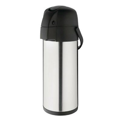 Olympia Lever Action Airpot 4Ltr Coffee Tea Hot Cold Water Thermos Flask