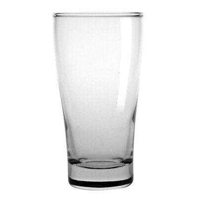 48x Sheffield Conical Beer Glasses 285ml Cocktail Wine Drinking Tumblers Barware