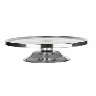 Cake Stand Stainless Steel 325 x 80mm Buffet Display Party Tableware