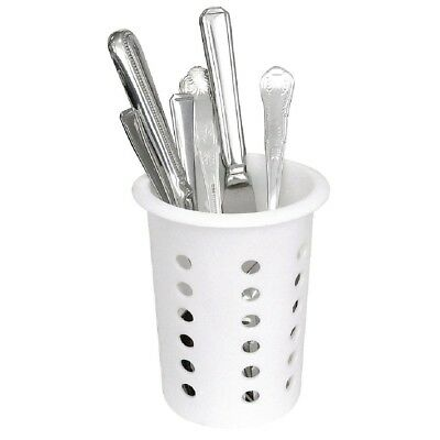 Cutlery Basket Plastic 113mm Dia Kitchen Forks Spoons Utensil Holder Trays